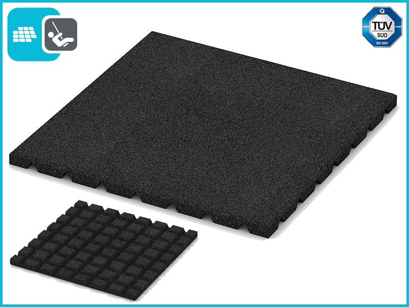 Speelplaats 50x50x2,5 cm Zwart
